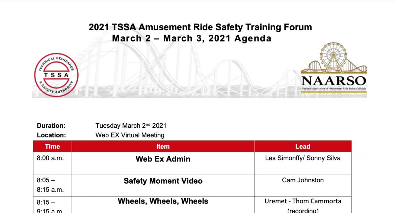 2021 NAARSO Safety Seminar – Virtual