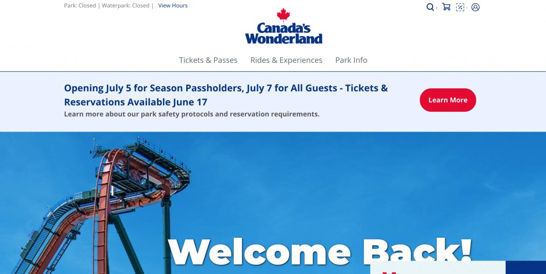 Ontario: Canada's Wonderland Announces Re-Opening